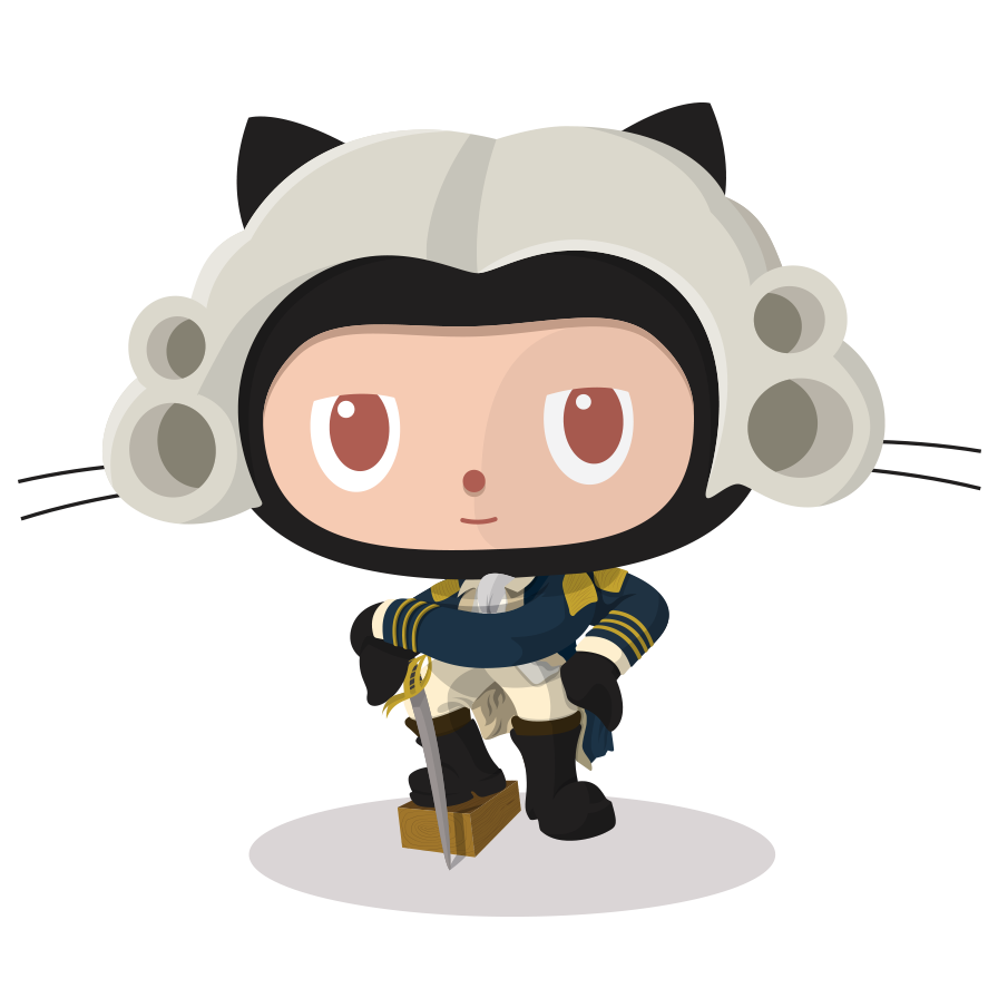 Octocat in founding father dress
